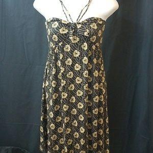 NWT Free People mini strappy summer flowy dress M